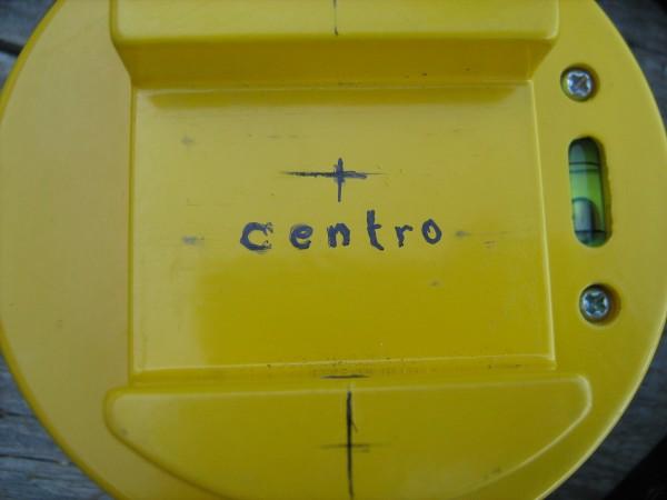 e centro dell'asse di rotazione