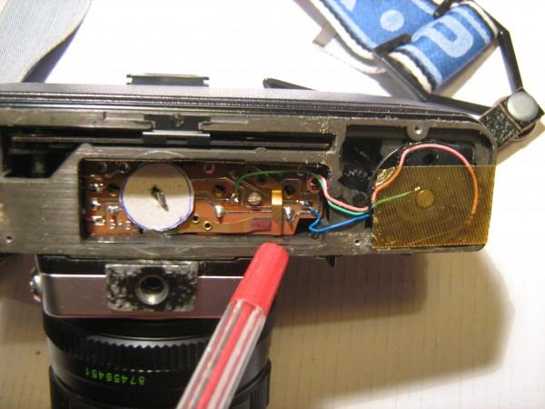 Il contatto eletrico dll'esposimetro
