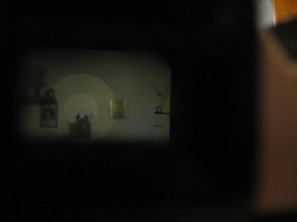 esposimetro su parete buia