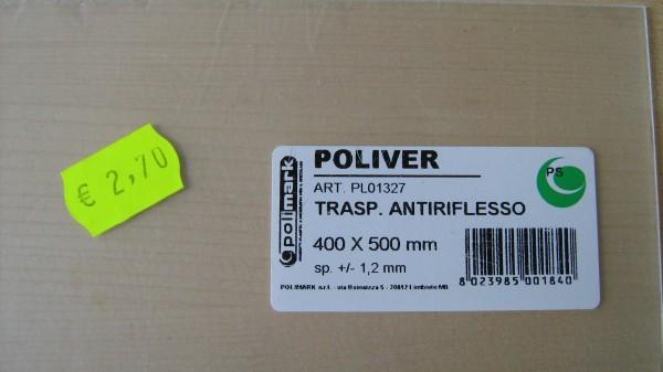 Tipo e costo della lastra antiriflesso (€ 2,70)