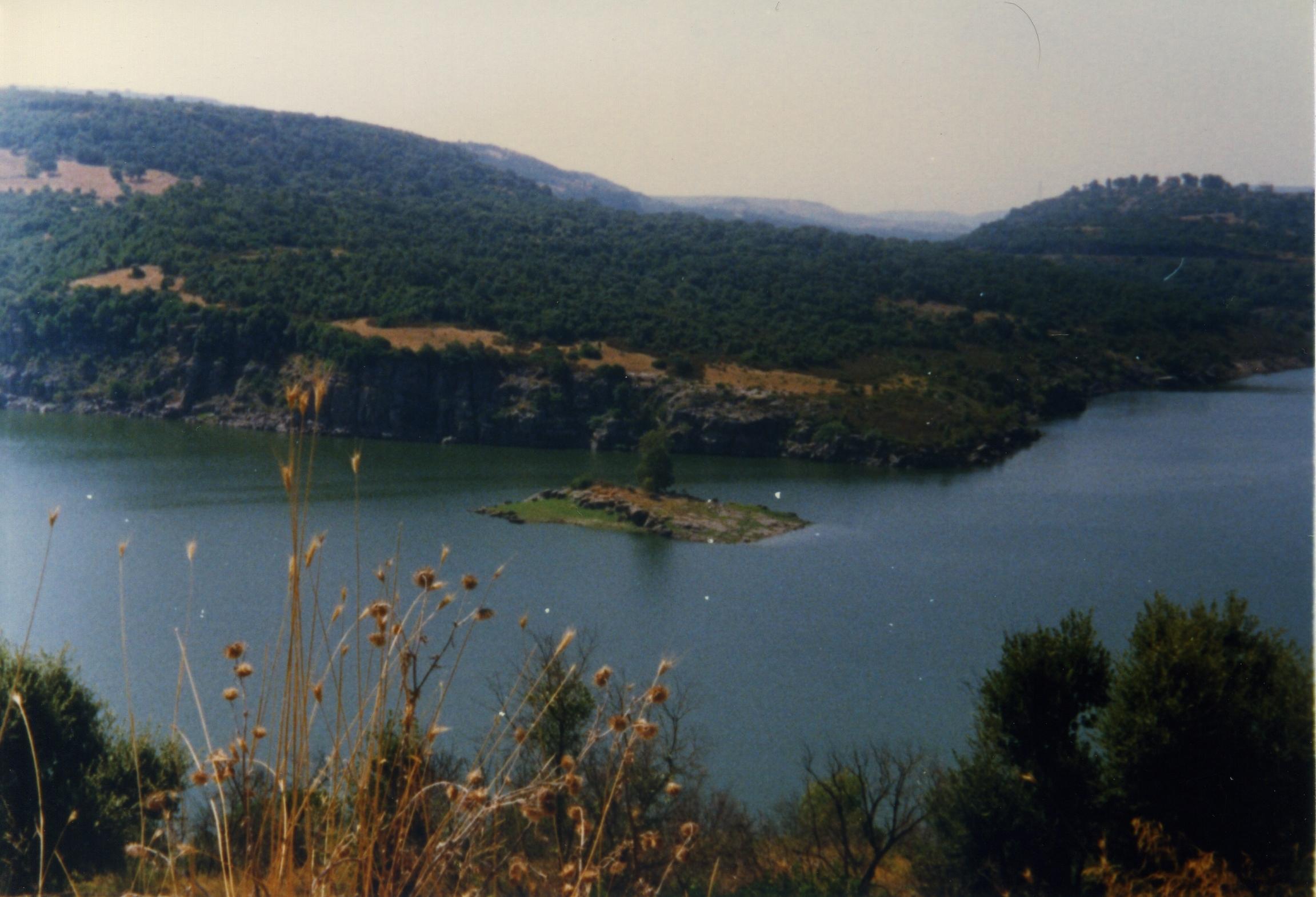 Settembre 1999 - Vista del lago Omodeo