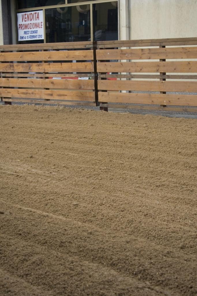 La sabbia appena rastrellata