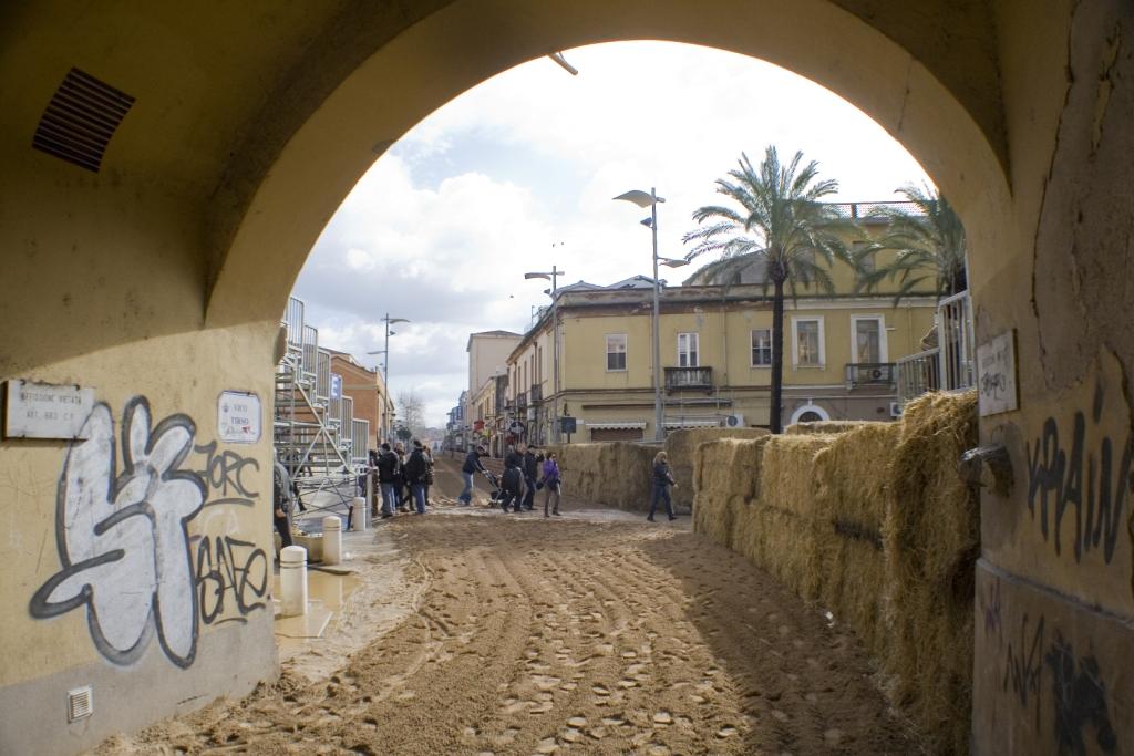 """""""Su Brocci"""" vista del portico"""