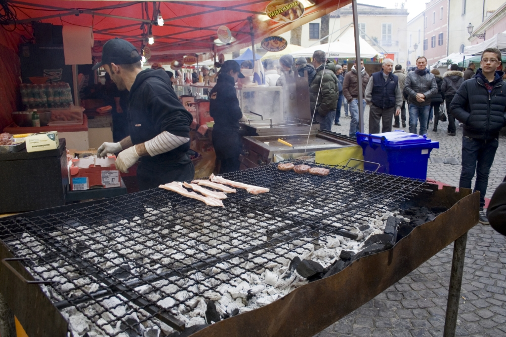 Ancora preparativi con carne alla griglia