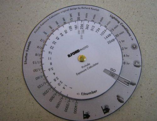 Calcolatore tempi esposizione Pinhole