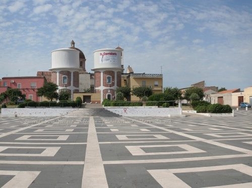 Cabras (OR) – Panoramica Piazza Stagno