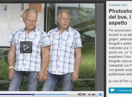 Photoshop live alla fermata del bus