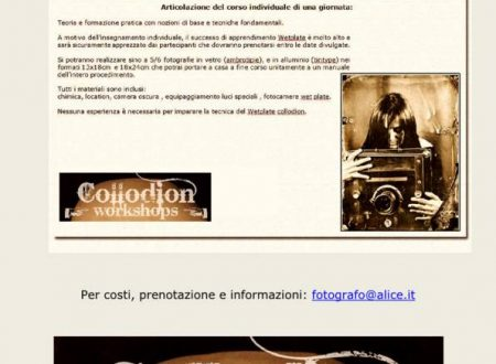 Collodion Workshop by G. Mazzanobile