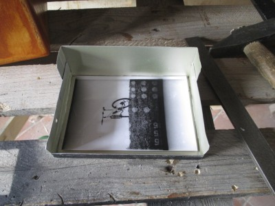 La carta fotografica alloggiata nel vassoio