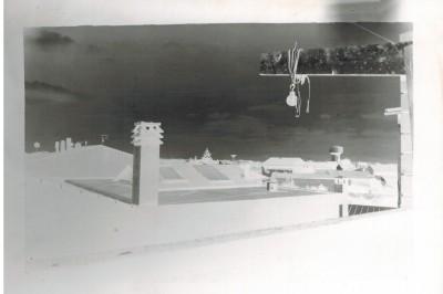 La prima foto fatta con la camera... il negativo della vista di Cabras.