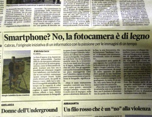 """Sardinian Camera su """"La Nuova Sardegna"""""""